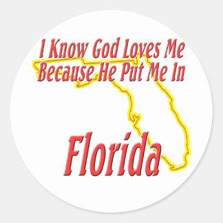 La Florida - dios me ama Etiqueta Redonda