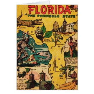 La Florida el estado de la península Tarjeta De Felicitación
