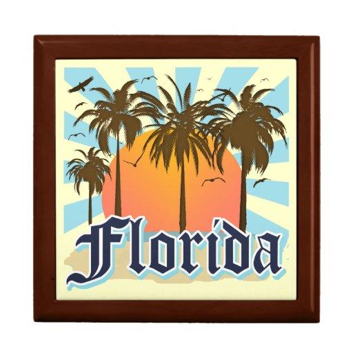 La Florida el estado del sol Joyero Cuadrado Grande