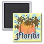 La Florida el estado del sol los E.E.U.U. Imán Cuadrado