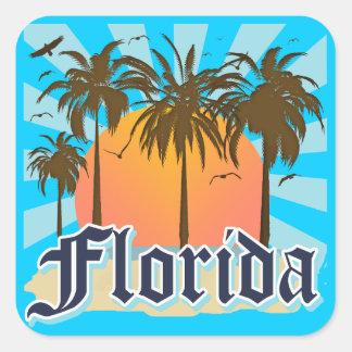 La Florida el estado del sol los E.E.U.U. Calcomanías Cuadradass