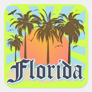 La Florida el estado del sol los E.E.U.U. Calcomanías Cuadradas