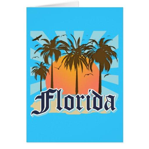 La Florida el estado del sol los E.E.U.U. Tarjeton
