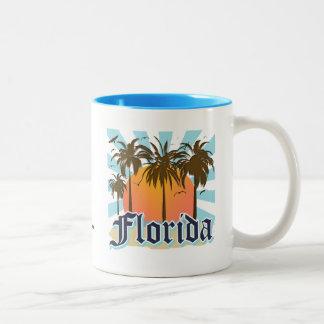 La Florida el estado del sol los E.E.U.U. Taza Dos Tonos