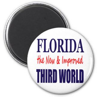 La Florida el TERCER mundo nuevo y mejorado Imán Redondo 5 Cm