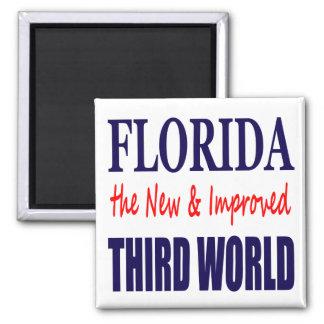 La Florida el TERCER mundo nuevo y mejorado Imán Cuadrado