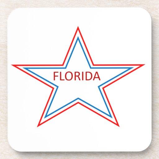 La Florida en una estrella Posavasos De Bebidas
