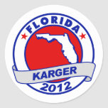 La Florida Fred Karger Pegatina Redonda