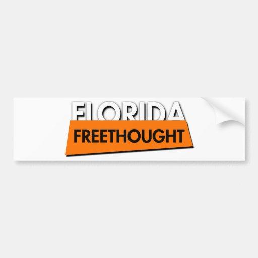 La Florida Freethought (en blanco) Etiqueta De Parachoque