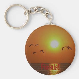 ¡La Florida! Gaviotas en puesta del sol del golfo Llaveros Personalizados