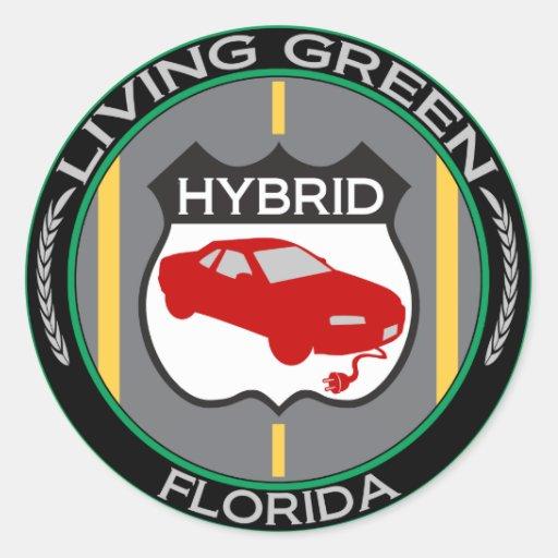 La Florida híbrida Pegatina Redonda