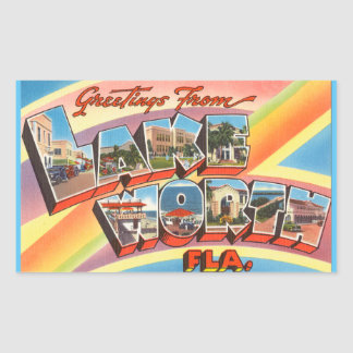 La Florida, hoja del lago 4 digno de los pegatinas Pegatina Rectangular
