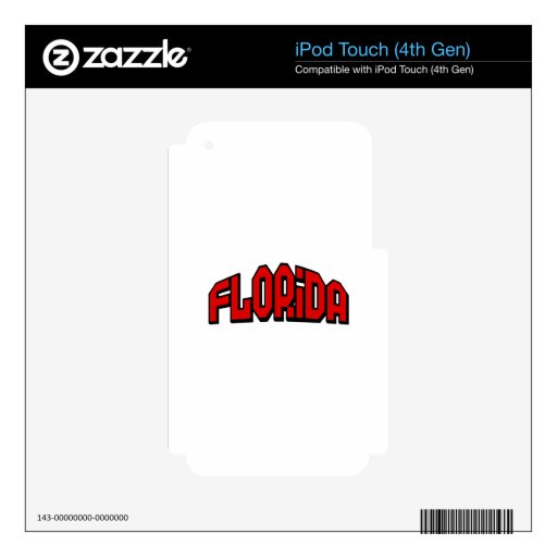La Florida iPod Touch 4G Calcomanía