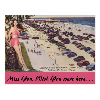 La Florida, Jacksonville, escena de la playa Tarjetas Postales