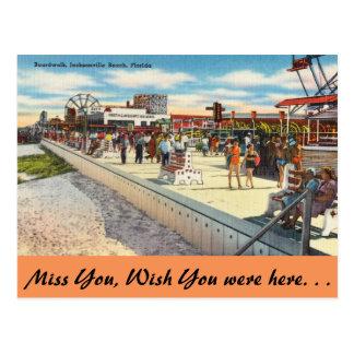 La Florida, Jacksonville, paseo marítimo Tarjeta Postal