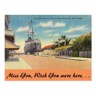 La Florida, Key West, St. de Duval Tarjeta Postal