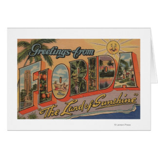 La Florida - la tierra de la sol Tarjeta De Felicitación
