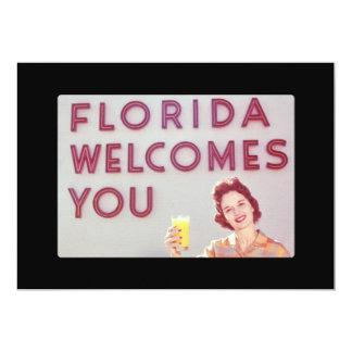 """La Florida le acoge con satisfacción desayuno Invitación 5"""" X 7"""""""