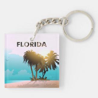 La Florida Llavero Cuadrado Acrílico A Doble Cara