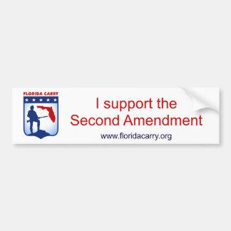La Florida lleva - apoyo la 2da enmienda Pegatina Para Auto
