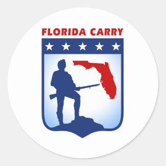 La Florida lleva el engranaje Pegatina Redonda