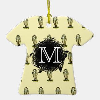 La Florida madriguera el modelo amarillo del Adorno De Cerámica En Forma De Camiseta