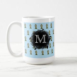 La Florida madriguera el modelo azul del monograma Tazas De Café