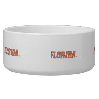 La Florida - naranja y azul Tazon Para Perro