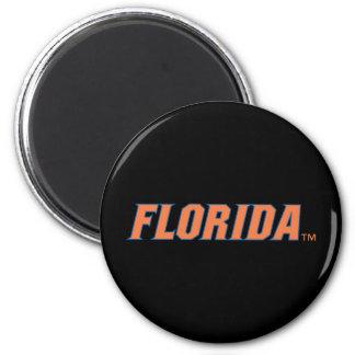 La Florida - naranja y azul Imanes Para Frigoríficos