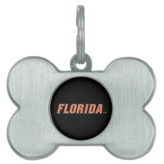 La Florida - naranja y azul Placas Mascota