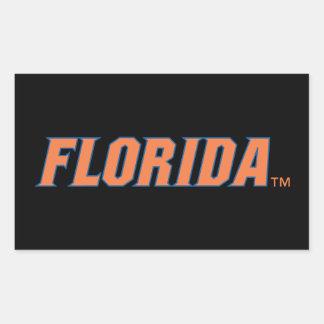 La Florida - naranja y azul Rectangular Pegatina