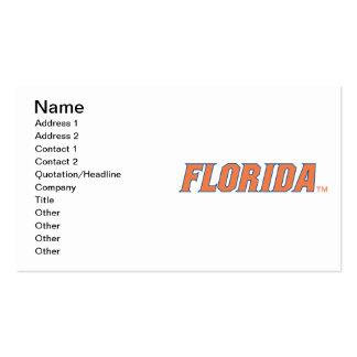 La Florida - naranja y azul Tarjeta De Visita