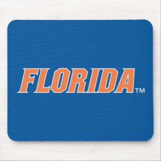 La Florida - naranja y blanco Tapetes De Ratones