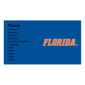 La Florida - naranja y blanco Tarjeta De Visita