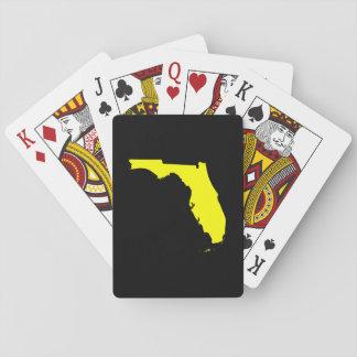 La Florida negra y amarilla Cartas De Póquer