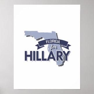 LA FLORIDA PARA HILLARY - .PNG POSTER