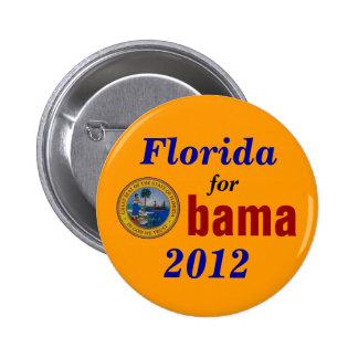 La Florida para Obama 2012 Pin Redondo 5 Cm