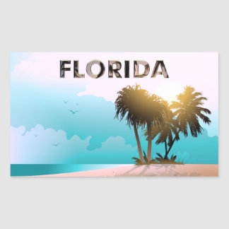 La Florida Rectangular Pegatinas