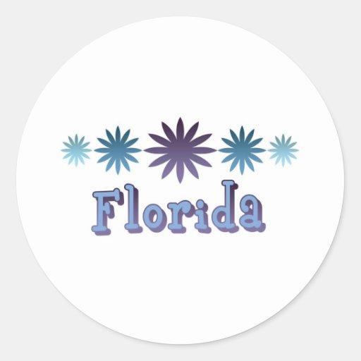 La Florida Pegatina Redonda
