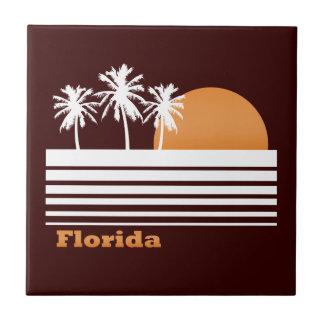La Florida retra Azulejo Cuadrado Pequeño