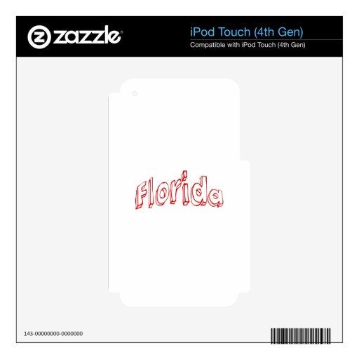 La Florida roja iPod Touch 4G Calcomanías