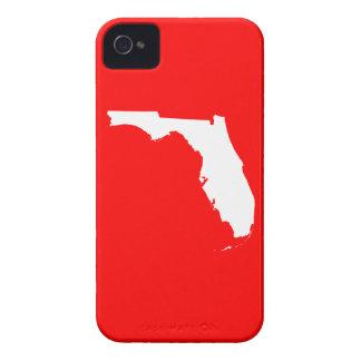 La Florida roja y blanca iPhone 4 Case-Mate Coberturas