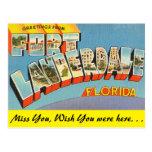 La Florida, saludos del Fort Lauderdale Tarjetas Postales