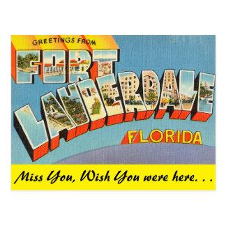 La Florida, saludos del Fort Lauderdale Postal
