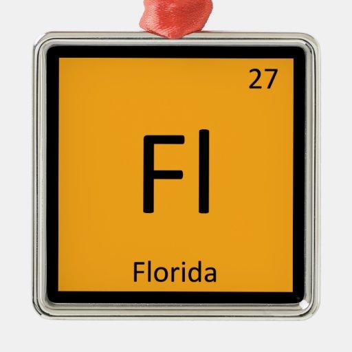 La Florida - Símbolo de la tabla periódica de la q Adornos De Navidad