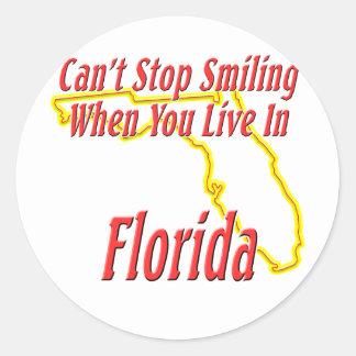 La Florida - sonriendo Pegatinas Redondas