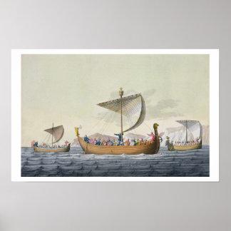 La flota de Guillermo el conquistador, platea 8 de Poster