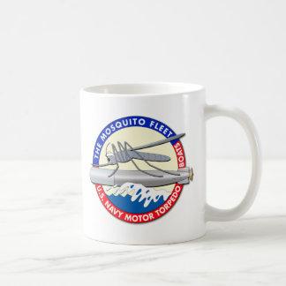 La flota del mosquito - rojo blanco y azul taza de café