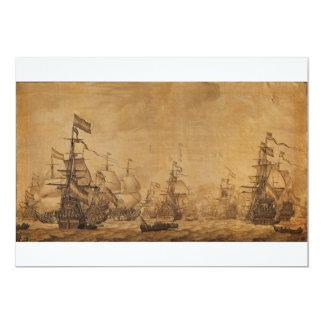 """La flota holandesa debajo de la vela de Willem van Invitación 5"""" X 7"""""""