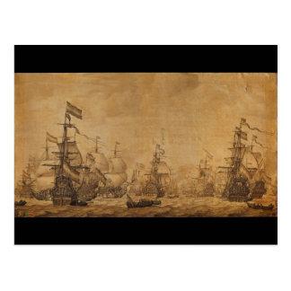 La flota holandesa debajo de la vela de Willem van Tarjeta Postal